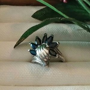 Vintage Art Deco Style Sapphire Ring